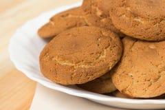 Cookies da aveia em uma placa Foto de Stock