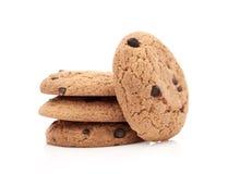 Cookies da aveia no branco Imagens de Stock Royalty Free