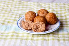 Cookies da avelã com canela Fotos de Stock