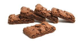 cookies da brownie do chocolate isoladas imagem de stock
