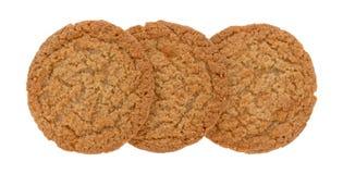 Cookies da crosta de torta de Apple em um fundo branco imagens de stock