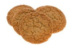 Cookies da crosta de torta de Apple em um fundo branco imagem de stock