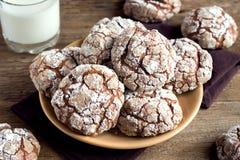 Cookies da dobra do chocolate fotografia de stock royalty free