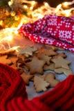 Cookies da estrela do Natal fotografia de stock
