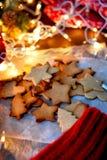 Cookies da estrela do Natal Imagens de Stock Royalty Free