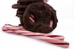 Cookies da pastilha de hortelã Fotografia de Stock