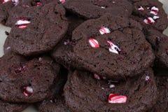 Cookies da pastilha de hortelã Fotos de Stock Royalty Free