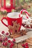 Cookies da rena do pão-de-espécie Foto de Stock