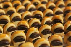 Cookies da vara do chocolate Fotografia de Stock Royalty Free