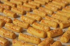 Cookies da vara do queijo Imagens de Stock