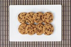 Cookies da vista superior Fotos de Stock