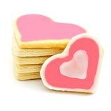 Cookies dadas forma coração fotografia de stock
