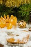 Cookies dadas forma coração do gengibre fotos de stock royalty free