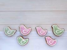 Cookies dadas forma pássaro da Páscoa Foto de Stock Royalty Free