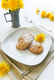 Cookies with dandelion's flowers Stock Photography