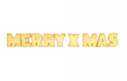 Cookies das letras Imagens de Stock Royalty Free