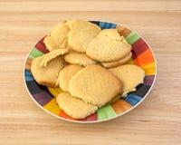 Cookies de açúcar caseiros no prato Foto de Stock