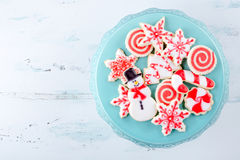 Cookies de açúcar do Natal Fotos de Stock