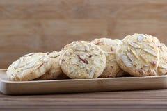 Cookies de amêndoa foto de stock