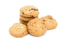Cookies de amêndoa no fundo branco foto de stock