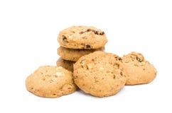 Cookies de amêndoa no fundo branco fotos de stock