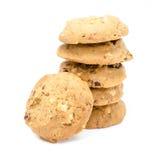 Cookies de amêndoa no fundo branco foto de stock royalty free
