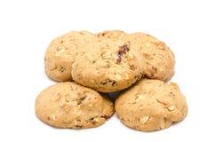 Cookies de amêndoa no fundo branco imagem de stock royalty free
