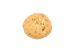 Cookies de amêndoa no fundo branco fotografia de stock