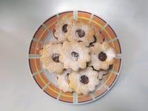 Cookies de cima de Imagens de Stock
