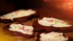 Cookies de cozimento do Natal - padaria do xmas - celebração festiva do inverno video estoque