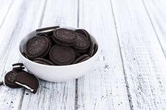 Cookies de creme imagem de stock