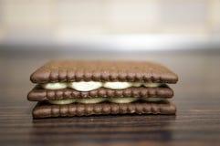 Cookies de creme Foto de Stock