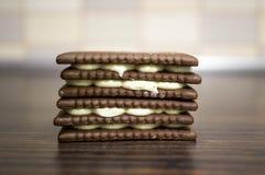 Cookies de creme Imagem de Stock Royalty Free