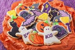 Cookies de Dia das Bruxas Fotos de Stock