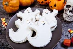Cookies de Dia das Bruxas Foto de Stock Royalty Free