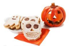 Cookies de Dia das Bruxas Imagem de Stock