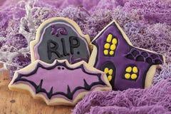 Cookies de Dia das Bruxas Fotografia de Stock