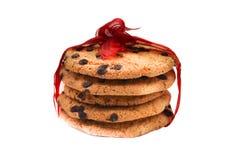 Cookies de farinha de aveia com gotas de chocolate fotografia de stock royalty free