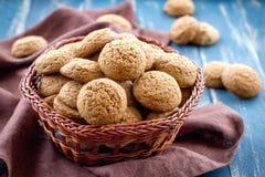 Cookies de farinha de aveia Fotografia de Stock