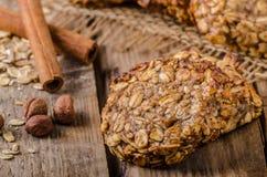 Cookies de farinha de aveia com banana e canela Foto de Stock