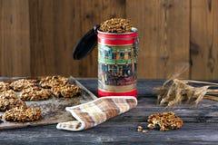 Cookies de farinha de aveia saudáveis Imagens de Stock Royalty Free