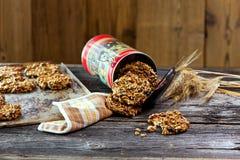 Cookies de farinha de aveia saudáveis Foto de Stock Royalty Free