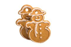 Cookies de Ginger Christmas imagem de stock royalty free