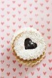 Cookies de Linzer Augen Foto de Stock