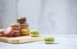 Cookies de Macaron Imagens de Stock Royalty Free