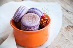 Cookies de Macaron Imagem de Stock