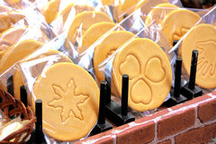 Cookies de manteiga Fotografia de Stock
