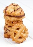 Cookies de manteiga Imagens de Stock