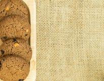 Cookies de manteiga caseiros dos pedaços de chocolate Imagens de Stock