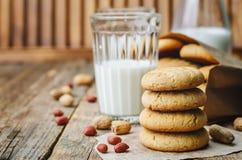 Cookies de manteiga do amendoim Fotografia de Stock